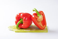 Pimentas de sino vermelhas Imagem de Stock Royalty Free