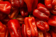 Pimentas de sino vermelhas Foto de Stock Royalty Free