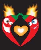Pimentas do amor ilustração royalty free
