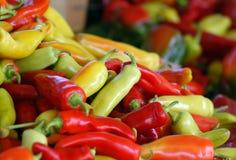 Pimentas do mercado dos fazendeiros Imagem de Stock Royalty Free