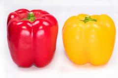 Pimentas doces da paprika fresca, pimentas de Bell vermelhas, pimentas amarelas Imagens de Stock Royalty Free