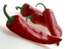 Pimentas doces italianas vermelhas no fundo branco Imagem de Stock Royalty Free