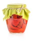 Pimentas doces vermelhas preservadas Fotos de Stock