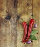 Pimentas e especiaria de pimentão Imagens de Stock Royalty Free