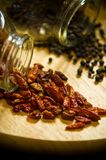 Pimentas e pimentão Foto de Stock