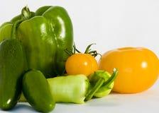 Pimentas e tomates Foto de Stock