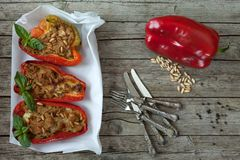 Pimentas enchidas Foto de Stock
