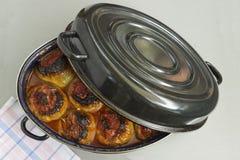 Pimentas enchidas com carne, arroz e vegetais Fotografia de Stock Royalty Free