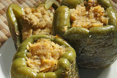 Pimentas enchidas da lentilha Foto de Stock Royalty Free