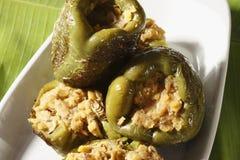 Pimentas enchidas da lentilha Imagens de Stock Royalty Free
