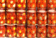 Pimentas enlatadas Foto de Stock Royalty Free