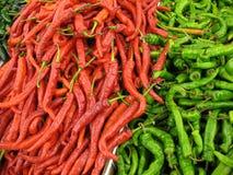 Pimentas enormes do Chile Imagens de Stock Royalty Free