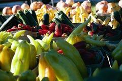 Pimentas - material quente Fotografia de Stock