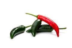 Pimentas, no branco Foto de Stock Royalty Free