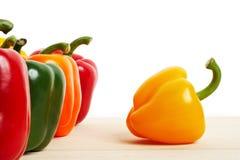 Pimentas no branco Foto de Stock Royalty Free