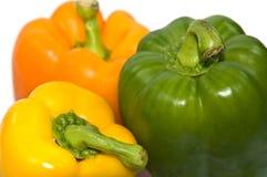 Pimentas no fundo branco fotografia de stock