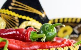 Pimentas quentes Imagens de Stock