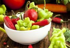 Pimentas quentes coloridas Foto de Stock Royalty Free