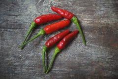 Pimentas quentes do pimentão Imagens de Stock