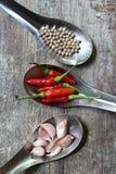 Pimentas quentes do pimentão Imagem de Stock Royalty Free