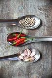 Pimentas quentes do pimentão Fotografia de Stock
