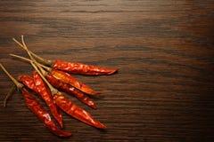 Pimentas quentes secadas Fotos de Stock Royalty Free