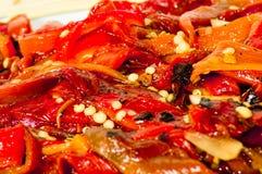 Pimentas Roasted (tradição siciliano) 2 Imagens de Stock