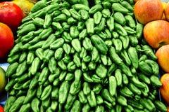 Pimentas verdes Imagem de Stock