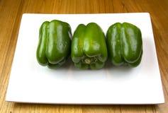 Pimentas verdes Fotografia de Stock