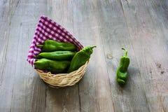 Pimentas verdes Imagem de Stock Royalty Free
