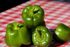 Pimentas verdes Foto de Stock