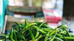 Pimentas verdes Imagens de Stock