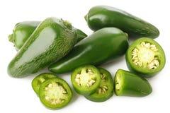 Pimentas verdes do jalapeno Foto de Stock
