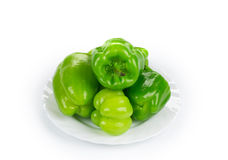Pimentas verdes doces Foto de Stock Royalty Free
