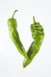 Pimentas verdes maduras Fotos de Stock