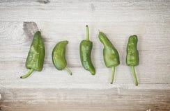 Pimentas verdes pequenas Fotografia de Stock