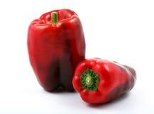 Pimentas vermelhas brilhantes Fotos de Stock Royalty Free