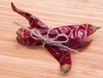 Pimentas vermelhas coloridas Foto de Stock Royalty Free