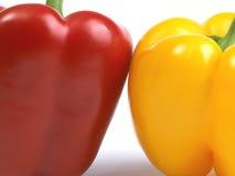 Pimentas vermelhas e amarelas Foto de Stock Royalty Free