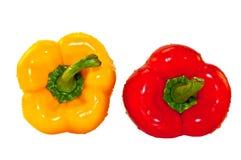 Pimentas vermelhas e amarelas Fotos de Stock