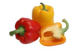 Pimentas vermelhas e amarelas Fotografia de Stock