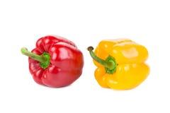 Pimentas vermelhas e amarelas doces Fotos de Stock