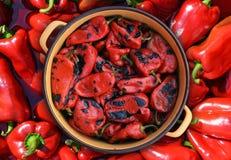 Pimentas vermelhas Roasted Imagem de Stock Royalty Free