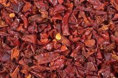 Pimentas vermelhas secadas Fotos de Stock Royalty Free