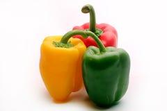 Pimentas, vermelho, amarelo, laranja, verde Fotos de Stock