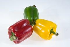 Pimentas, vermelho, amarelo, laranja, verde Foto de Stock