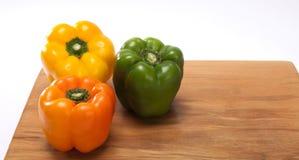 Pimentas, vermelho, amarelo, laranja, verde Fotografia de Stock