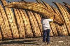 Pimentelstranden in chiclayo - Peru royalty-vrije stock afbeeldingen