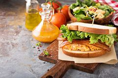 Pimento cheese sandwich with bacon. And lettuce Royalty Free Stock Image
