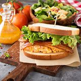 Pimento cheese sandwich with bacon. And lettuce Royalty Free Stock Photo